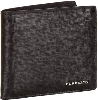 Burberry Saffiano Leather Bifold Wallet