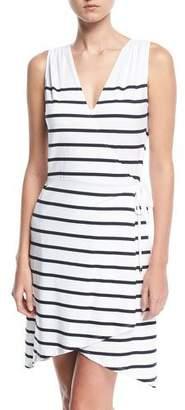 Heidi Klein Maine Sleeveless Striped Wrap Dress