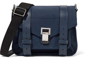 Proenza Schouler Ps1 Leather-Trimmed Twill Clutch