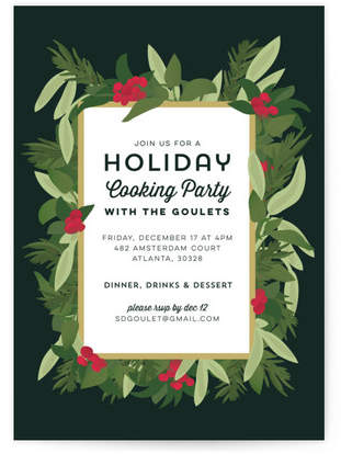 Winter Savory Holiday Party Invitations