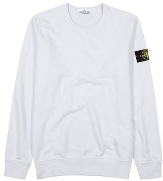 Stone Island Light Blue Cotton Sweatshirt