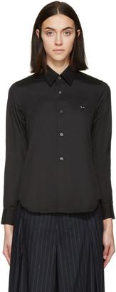 Comme des Garçons Play Black Poplin Small Heart Blouse $225 thestylecure.com