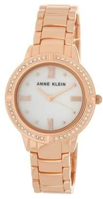 Anne Klein Women's Rose Gold Mother of Pearl Bracelet Watch