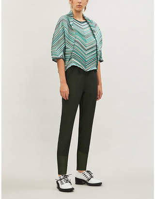 Issey Miyake Dotted Line pleated batwing crepe jacket