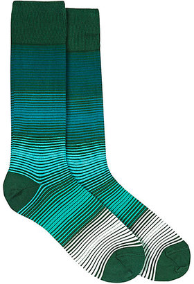 Paul Smith Men's Micro-Striped Mid-Calf Socks $30 thestylecure.com