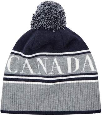 Canada Goose Logo Pom Pom Beanie Hat