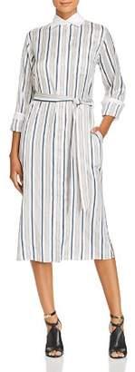 Burberry Aya Striped Silk Shirt Dress