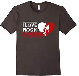 Rock Climbing T shirt - I Love Rock Climbing Shirt
