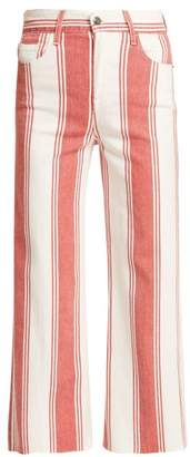 Frame Vintage Cropped Jeans - Womens - Red Multi