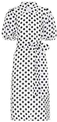 Lisa Marie Fernandez Polka-dot linen shirt dress