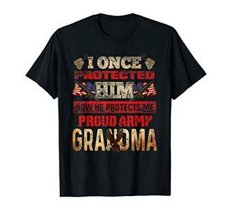 Womens I Once Protected Him Proud Army Grandma T Shirt Soldi