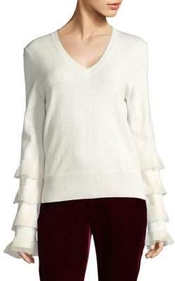 Derek Lam 10 Crosby Ruffled Wool Sweater