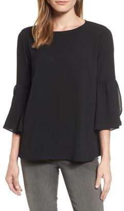 Women's Bobeau Split Ruffle Sleeve Top $52 thestylecure.com