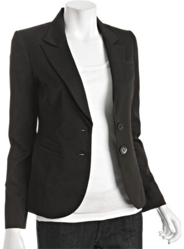 BCBGeneration black stretch gabardine tailored blazer