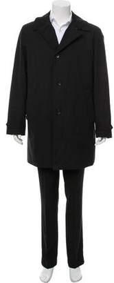 Armani Collezioni Faux-Fur Lined Raincoat