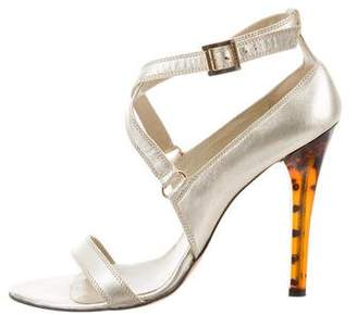 Versace Metallic Leather Sandals