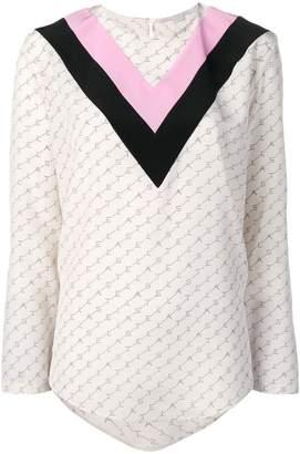 Stella McCartney chevron monogram print blouse