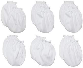Lucky Brand LUCKY LUCKY Baby Boys Girls Gloves,No Scratch Mittens 100%Cotton 6 Pair