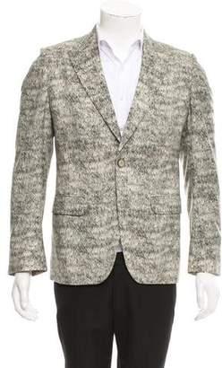 Alexander McQueen Printed Wool Blazer