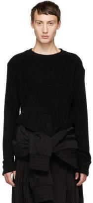 D.gnak By Kang.d Black Looped Solid Sweatshirt