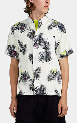 Saturdays NYC Men's Bruce Palm-Leaf-Print Twill Shirt - White