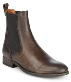 Frye Melissa Chelsea Distressed Leather Booties