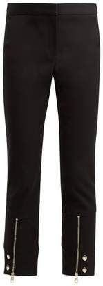Alexander McQueen Mid Rise Cotton Blend Cropped Trousers - Womens - Black