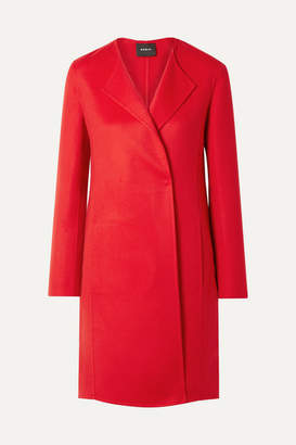 Akris Blacky Cashmere Coat - Red