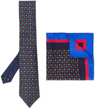 Etro printed tie and pocket square