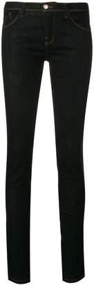 Emporio Armani embroidered logo skinny jeans