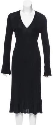 Gianni Versace V-Neck Midi Dress