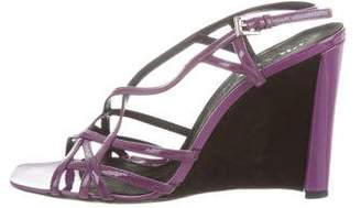 Prada Patent Leather Cage Sandals