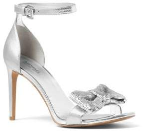 MICHAEL Michael Kors Paris Bow Metallic Leather Sandals