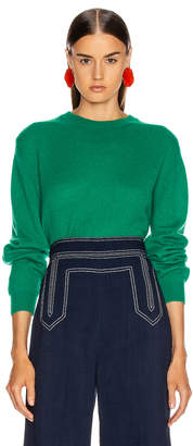 KHAITE Viola Sweater in Kelly Green | FWRD