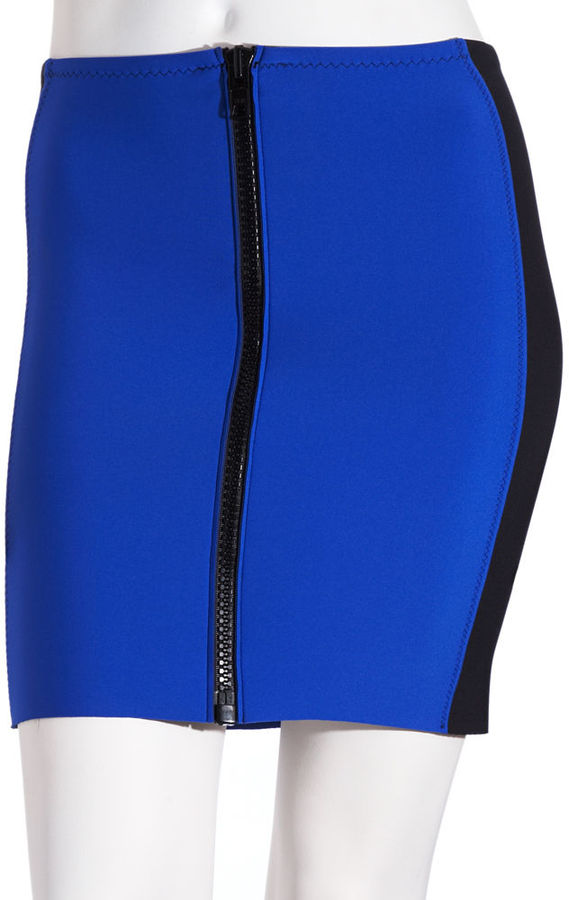 Lisa Marie Fernandez Side Panel Skirt - Royal/Black