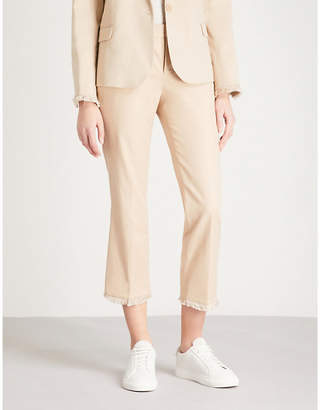 Zadig & Voltaire Posh frayed-trim cotton-blend trousers