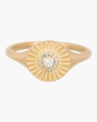Adina Diamond Rays Signet Ring
