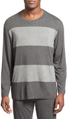 Daniel Buchler Wide Stripe Long Sleeve T-Shirt $88 thestylecure.com