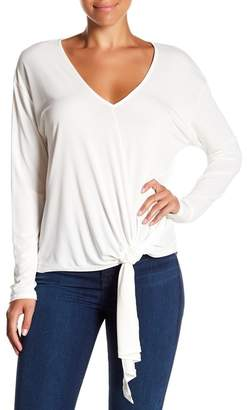 ASTR the Label Ruched Tie Front Tee