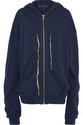Haider Ackermann Metallic Embroidered Cotton Hooded Jacket