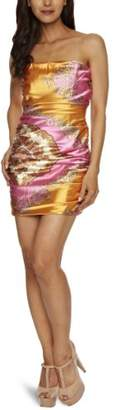 POP ART Scarf Print Bandeau Strapless Women's Dress