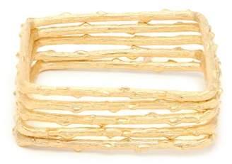 Aurelie Bidermann True Blue Set Of Five Gold Plated Bangles - Womens - Gold
