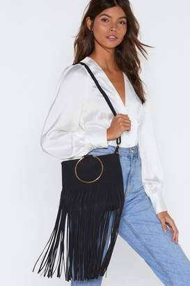 Nasty Gal WANT Fringe on This Circle Handle Bag