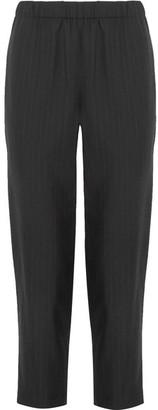 Comme des Garçons Comme des Garçons - Cropped Pinstriped Wool Tapered Pants - Black $350 thestylecure.com