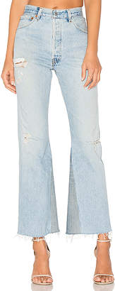 RE/DONE Levis Leandra High Rise Crop Flare.