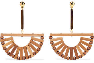 Cult Gaia Ark Bamboo And Gold-tone Earrings - Beige