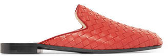Bottega Veneta Intrecciato Leather Slippers - Red