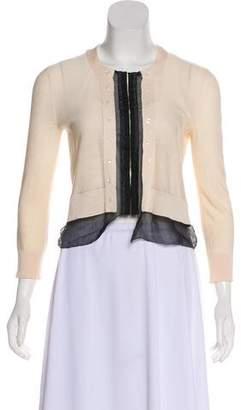 DKNY Long Sleeve Silk Cardigan