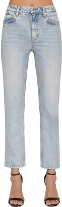 Alexander Wang Skinny Cotton Denim Jeans W/ Back Zip