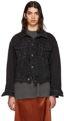 Balenciaga Black Denim Swing Jacket